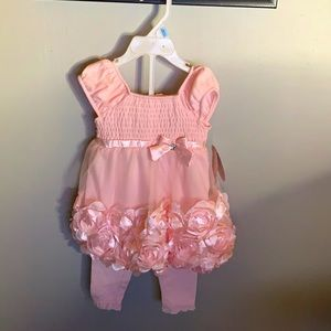 Nanette Baby 6-9 months, pink dress with leggings